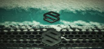 Double suzuki logos. Photo that i find a car which have two logos stock photos