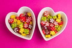 Double sweet hearts Stock Photography