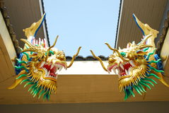 Double tête de dragon. Photographie stock