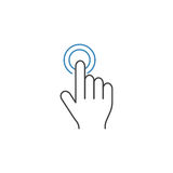 Double tap line icon, touch and hand gestures. Vector graphics, a color linear pattern on a white background, eps 10 vector illustration
