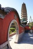 Double temple de pagoda Images stock