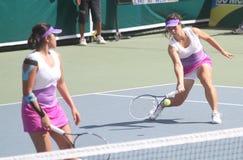 Double tennis asiatique photo stock