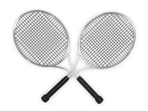 Double tennis racquets Stock Photo