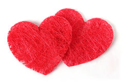 Double texture heart Royalty Free Stock Image