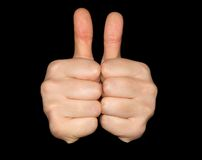 Double thumbs up! Royalty Free Stock Photos