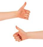 Double thumbs up Stock Photo