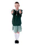 Double thumbs up by young american girl Stock Photos