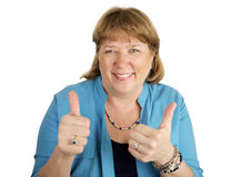 Double Thumbsup Royalty Free Stock Images