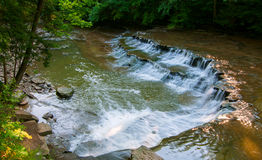 Double-tiered waterfall Stock Images