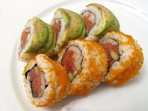Double Topping Sushi Royalty Free Stock Photography