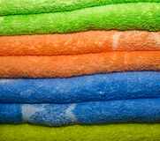 Double towels Stock Photo
