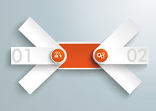 Double Triple Banner 2 Options PiAd Stock Image