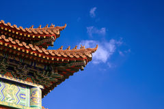 Double upturned eaves of chinese temple Stock Photos