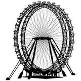 Double vecteur de silhouette de carrousel Images libres de droits