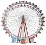 Double vecteur vert de carrousel Image libre de droits