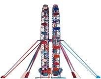 Double vecteur vert de carrousel Photo libre de droits