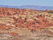 Double voûte au parc national de voûtes en Utah Photo stock