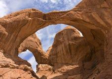 Double voûte, section de Windows, Utah Image libre de droits