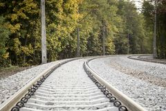 Double voie ferroviaire photos libres de droits