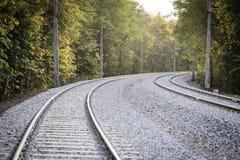 Double voie ferroviaire images stock