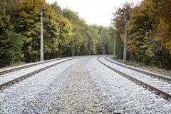 Double voie ferroviaire photographie stock