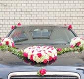 Double voiture de mariage de bonheur Photos libres de droits
