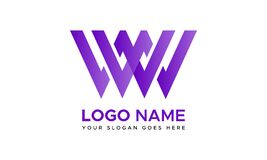 Free Double W Letter Logo Template | WW Letter Logo Royalty Free Stock Photography - 179869897