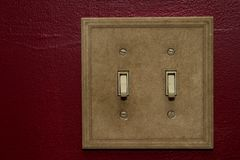 Double Wall Switches Royalty Free Stock Photos