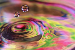 Double Water Drops Royalty Free Stock Images