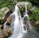 Double waterfall Stock Photography