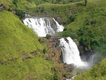 Double waterfall. St clair waterfall sri lanka Stock Images