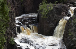 Double waterfall Stock Photography