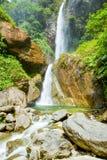 Double Waterfall On Machay River Ecuador Royalty Free Stock Photos