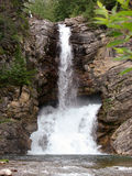 Double waterfall in mid summer Stock Images