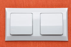 Double white light switch Royalty Free Stock Photography