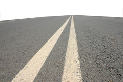 Double white lines Stock Photography