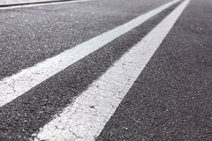 Double white lines Royalty Free Stock Photography