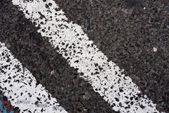 Double White Lines on the Road Royalty Free Stock Image