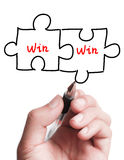 Double Win Puzzle Concept Royalty Free Stock Photo