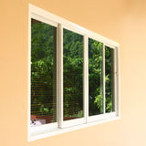 Double window replacement. Slide pvc frame in residential building house royalty free stock image