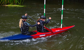 Double Womens Competitors Stock Images