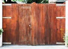 Double wooden doors. Royalty Free Stock Image