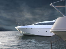 Double Yachts Stock Images