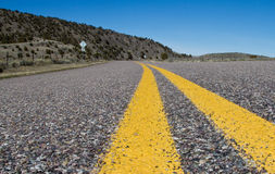 Double Yellow Center Line stock photography