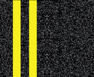 Double yellow centerline Royalty Free Stock Images
