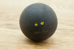 Double yellow dot squash ball Royalty Free Stock Image