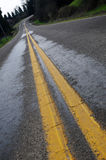 Double yellow line Royalty Free Stock Image