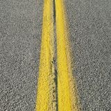 Double yellow line Royalty Free Stock Images
