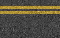 Double Yellow Line On New Asphalt Road Stock Photos