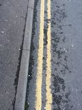 Double Yellow Line Royalty Free Stock Photo